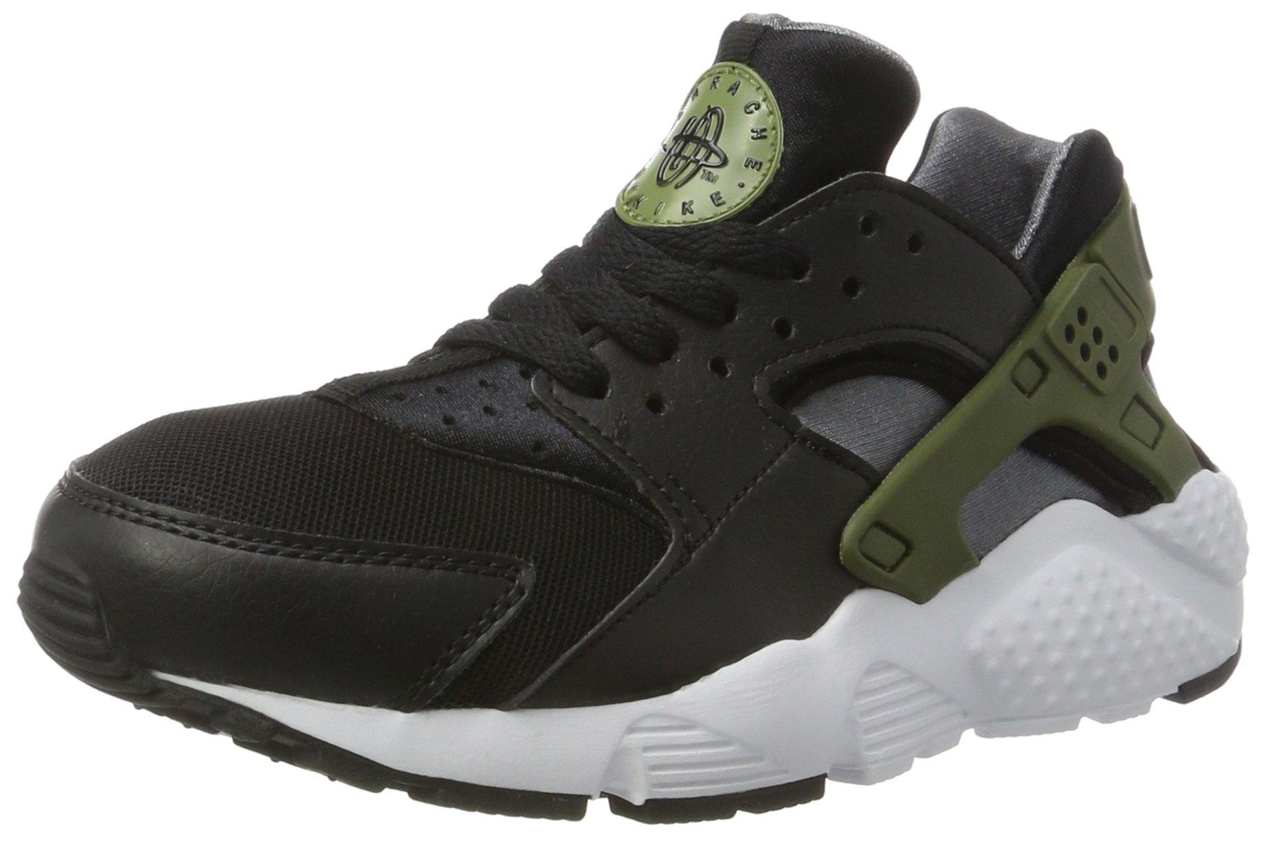 new product 430a0 83df9 Galleon - Nike Children And Boys Huarache Run Gs Sneakers, Multicolor (Black Palm  Green-Dark Grey-White), 4 UK