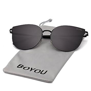 2bf889e2e9 BOYOU Lente de espejo completo Premium Lentes de estilo aviador gafas de sol  con protección UV400: Amazon.es: Deportes y aire libre