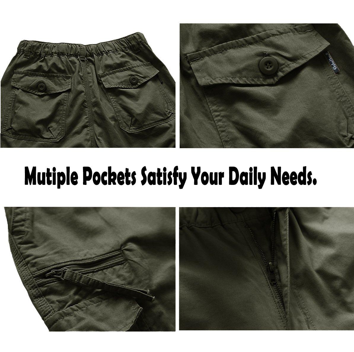 MAKEIIT Men's Juniors Cargo Shorts XXXL Cargo Shorts Dri Fit Cargo Shorts with Multi-Pocket by MAKEIIT (Image #7)