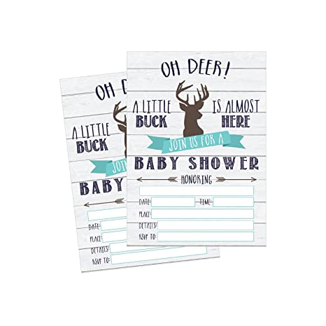 picture relating to Free Printable Baby Registry Cards identified as 50 Fill in just Deer Kid Shower Invites, Child Shower Invites Searching, Tenting, Camo, Buck, Rustic, Impartial, Woodland Kid Shower Invitations for Boy,
