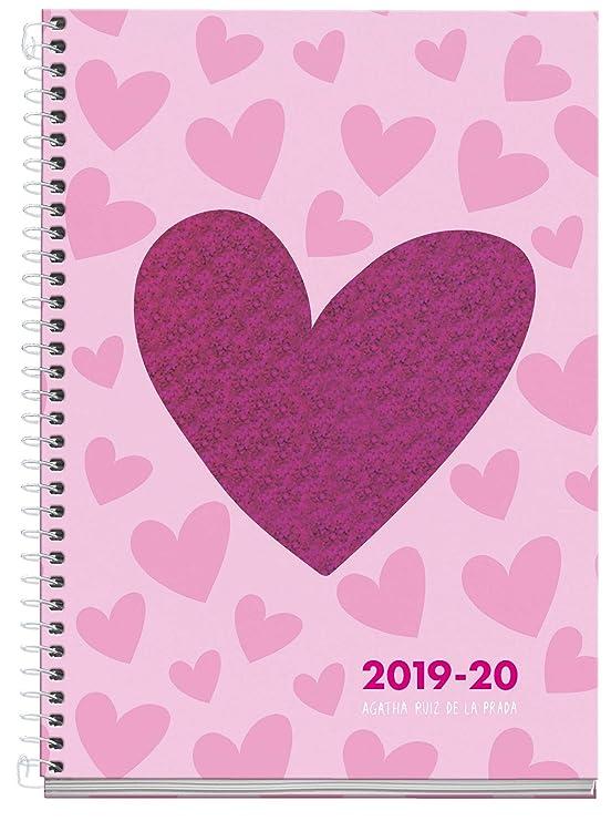 Agatha ruiz de la prada agenda escolar con espiral 2019 2020 día página Lurex español 117x174 mm