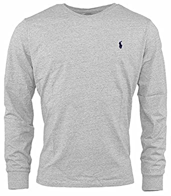 804e5eb3b0df Image Unavailable. Image not available for. Color  RALPH LAUREN Polo Mens  Custom-Fit Long Sleeve Crew Neck T-Shirt ...