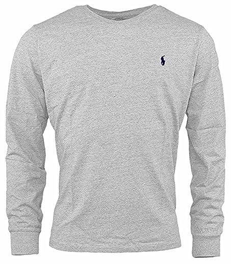 Polo Ralph Lauren Mens Custom-Fit Long Sleeve Crew Neck T-Shirt (X