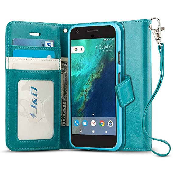 check out a114c d6040 J&D Case Compatible for Google Pixel Case, [Wallet Stand] [Slim Fit] Shock  Resistant Flip Cover Wallet Case for Google Pixel Wallet Case - [Not for ...