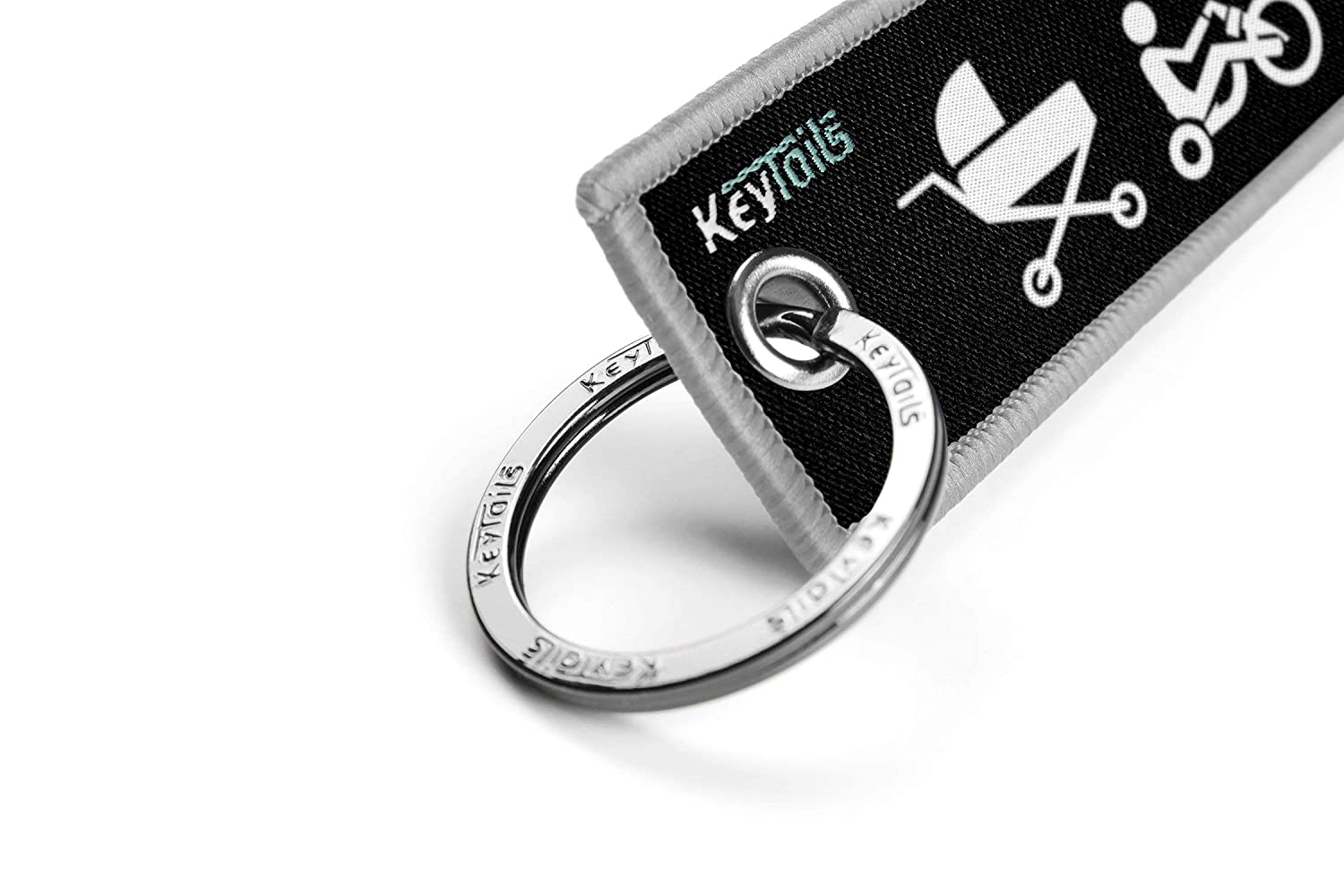Moto Evolution Premium Quality Key Tag for Motorcycle Scooter Dirt Bike KEYTAILS Keychains