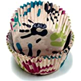 Chef Craft 50 Count Cupcake Liners, One Size, Purple/Green/Blue/White/Red
