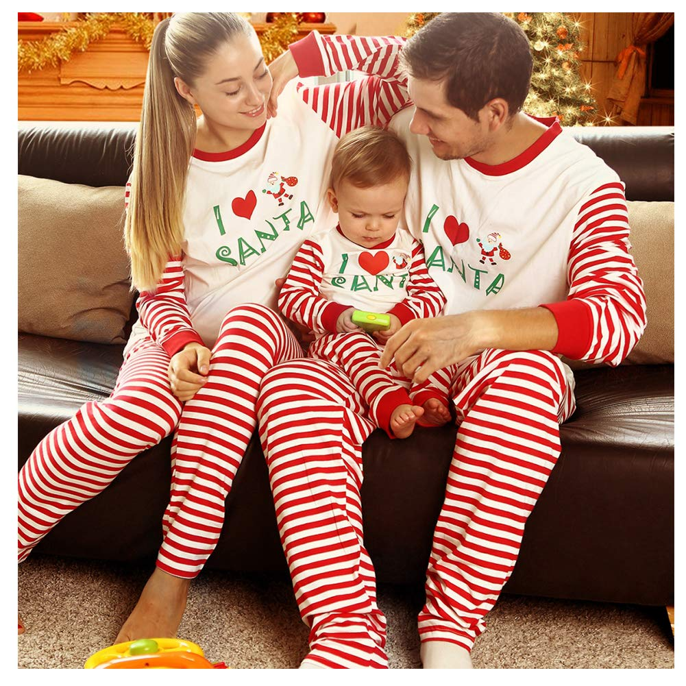 2083406ede BOBORA Matching Christmas Pajamas for Family with Baby