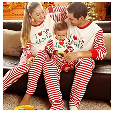 c923950e29 Image Unavailable. Image not available for. Color  BOBORA Matching  Christmas Pajamas for Family with Baby
