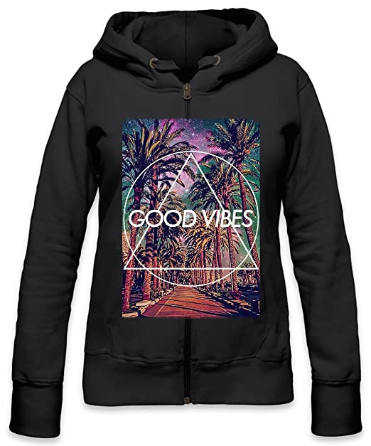 Good Vibes Only Hype Hipster Star Galaxy Tumblr Womens Zipper Hoodie: Amazon.es: Ropa y accesorios