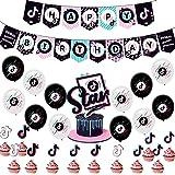 Decoración De Globos De Cumpleaños De Tik Tok, BAIBEI 36PCS Decoración De Fiestas De Cumpleaños Globo De Látex Cake…