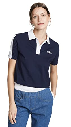 Amazon.com: Fila Women's Adiella Polo Shirt, Peacoat/White ...