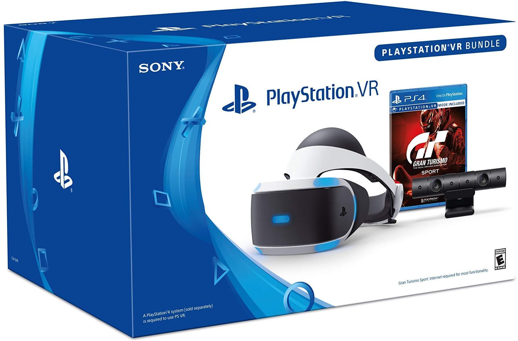 Playstation VR & Gran Turismo Sport Bundle | Advanced VR Display | 3D Audio Technology | 5.7'' OLED 1080p Display | HDMI | USB by Sony