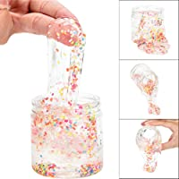 SALE! 170ml Kids DIY Sugar Sprinkles Clear Slime, GreatestPAK Funny Children Beautiful Color Mixing Cloud Scented Stress Fluffy Floam Putty Sludge Squishies Clay Toy Gift For Girls Boys Children