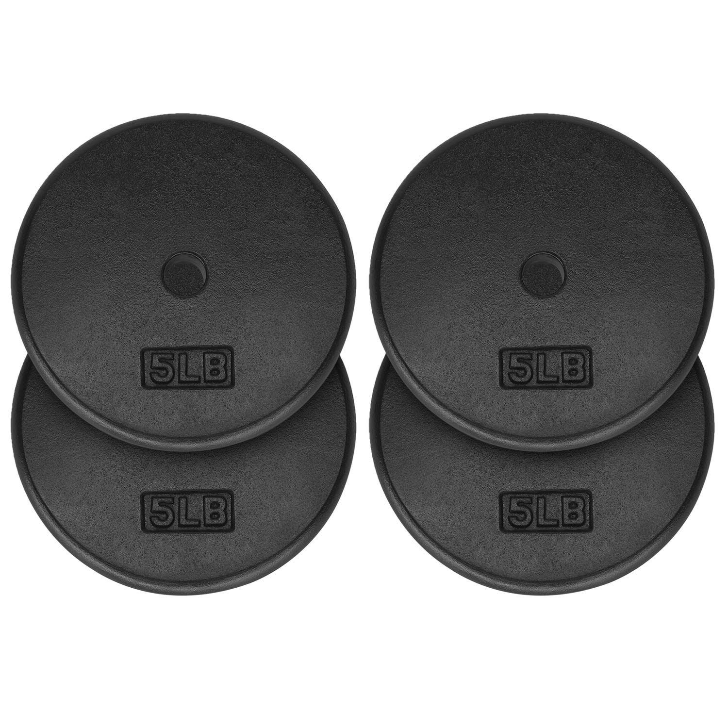 Yes4All 1-inch Cast Iron Weight Plates for Dumbbells – Standard Weight Plates (Combo 5lb x 4pcs)