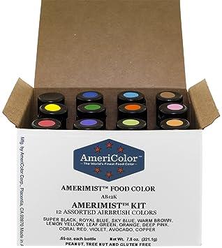 Amazon.com: Food Coloring AmeriColor AmeriMist Airbrush Kit, 12 ...