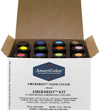 Amazon.com: Food Coloring AmeriColor AmeriMist Airbrush Kit, 12 ...