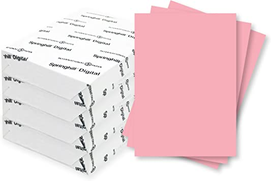 Amazon Com Springhill 11 X 17 Pink Colored Cardstock Paper 67lb Vellum Bristol 147gsm 1000 Sheets 4 Reams Premium Lightweight Cardstock Vellum Printer Paper With Textured Finish 076004c Office Products