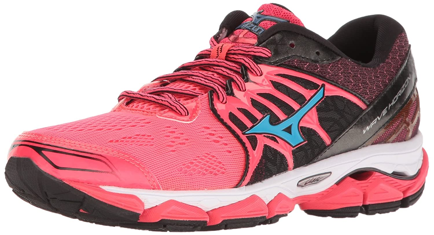 Mizuno Women's Wave Horizon Running Shoe B01H3EEG6E 10 B(M) US|Pink/Black