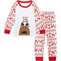Qtake Fashion 1-12 Years Christmas Boys Pajamas Children Clothes Set 100% Cotton Little Kids Pjs Sleepwear