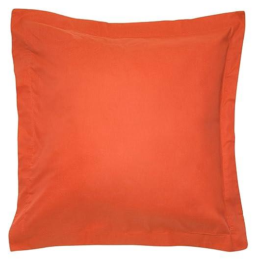 Sancarlos - Combicolor Funda de cojin, 60x60 cm, color naranja