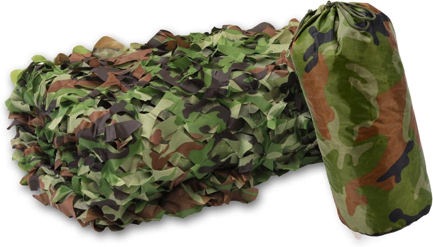 flammenhemmend Jagd Armee Outdoor wei/ß gr/ün XLORDX 3x4m 3x5m 3x6m Camouflage Netz Tarnnetz Camonet Woodland Tarnung Camo F/ür Waldlandschaft