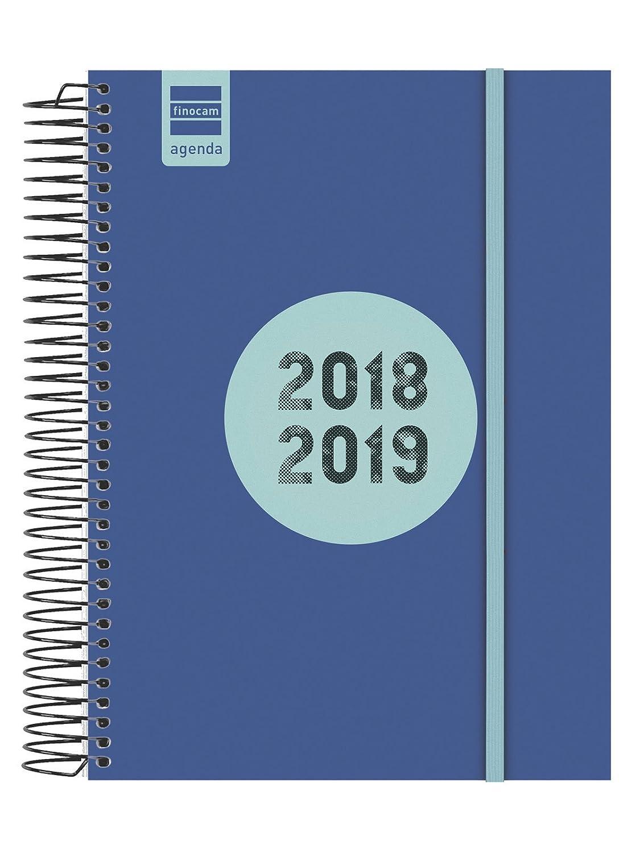 Finocam Espir Label - Agenda 2018-2019 1 día página español, 155 x 215 mm, negro Cabero Group 1916 633126019
