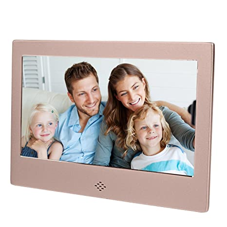 "Epyz HD Ready Digital Photo Frame with Fully Functional Remote (7"" inch, Gold) Digital Picture Frames at amazon"