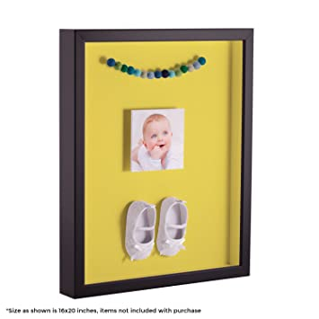 Arttoframes 18 X 24 Inch Shadow Box Picture Frame With A Satin Black 1 Shadowbox Frame And Canary Mat