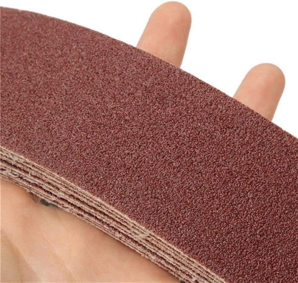 CHUNSHENN Grinding Tool 10pcs 106x5cm Alumina Sanding Belts 80 Grit Sandpaper Self Sharpening Oxide Abrasive Strips Abrasive Accessories