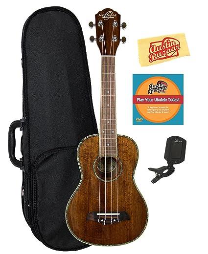 Oscar Schmidt Ou5 Koa Concert Ukulele Acoustic Electric Guitars