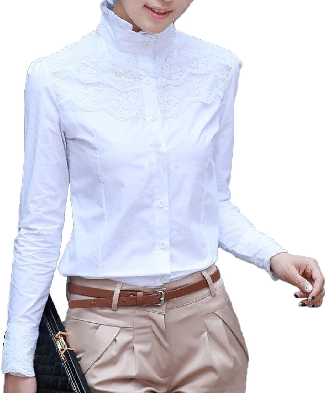 de mangas largas Blusa para mujer Nonbrand de invierno estilo victoriano y vintage para la oficina dise/ño con encaje