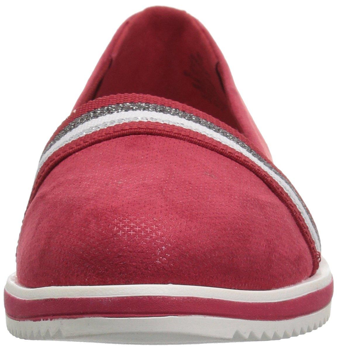 Anne B07BRZBY3R Klein Women's Mallorie Slip Ballet Flat B07BRZBY3R Anne 6.5 B(M) US|Red Fabric fd45c9