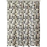 "Riverbyland Shower Curtains Grid 72"" x 79"""