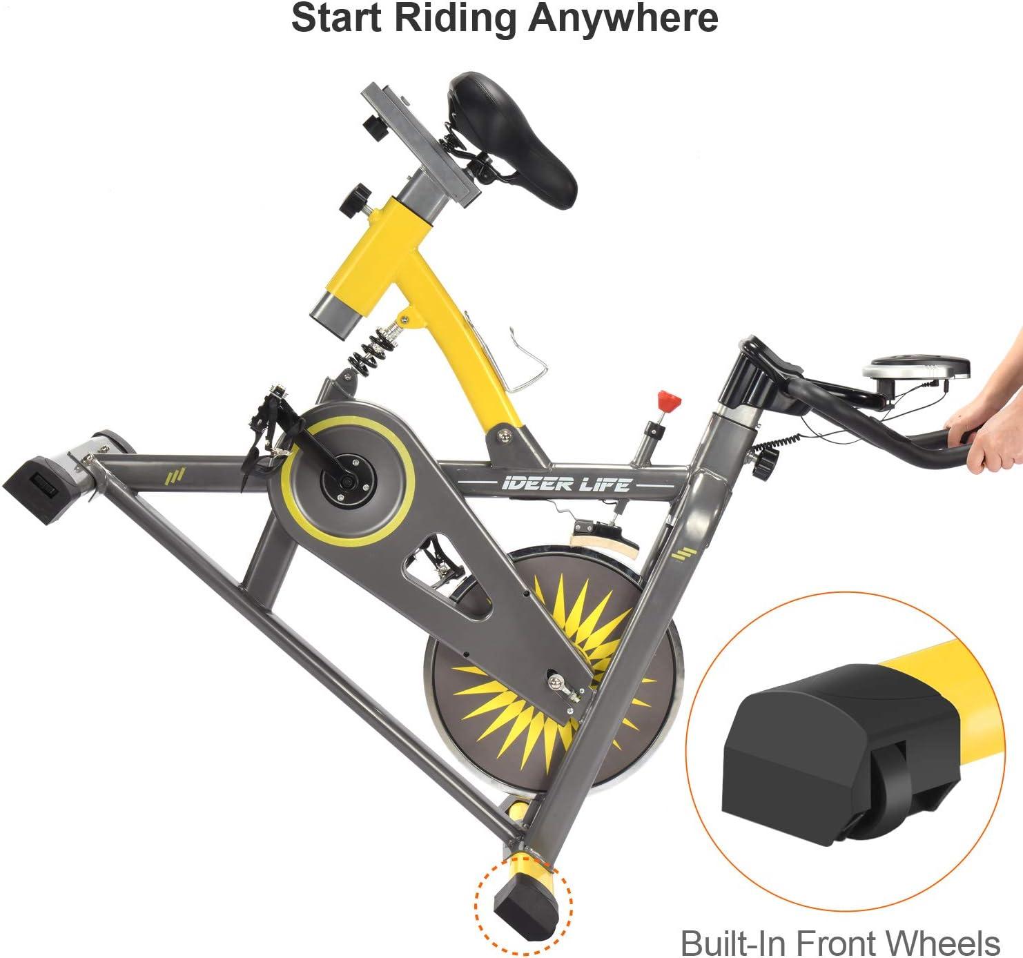 iDeer Bicicleta estática para ejercicio de la vida, bicicleta de ...