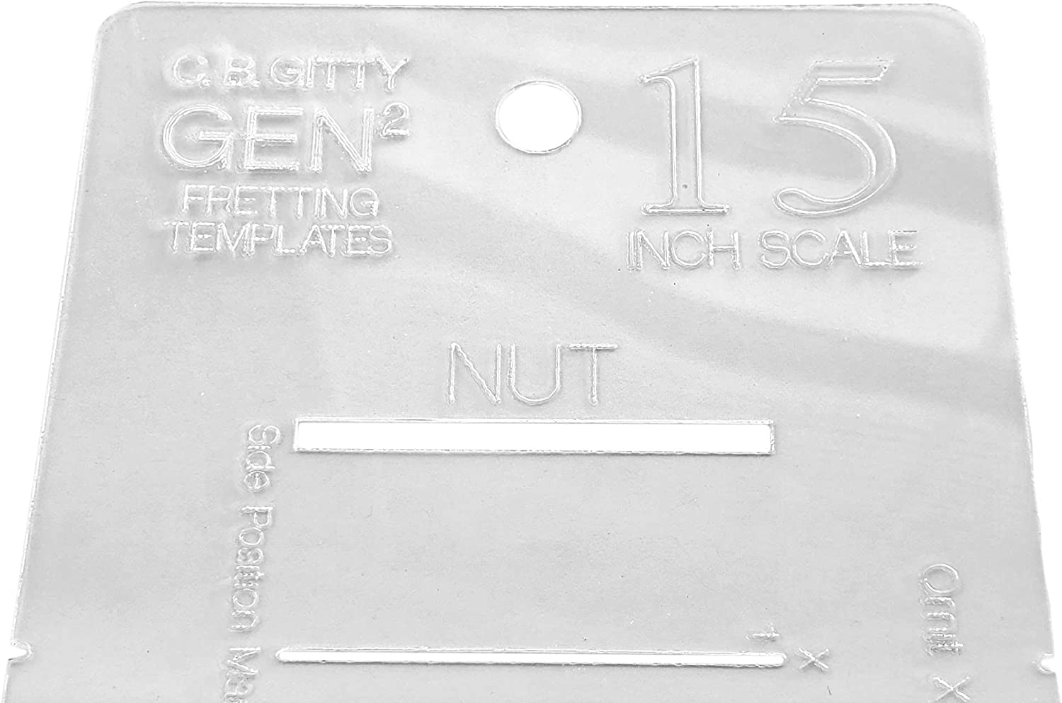 15-inch Fretting Scale Marking Template for Concert Ukulele Laser-cut-Acrylic