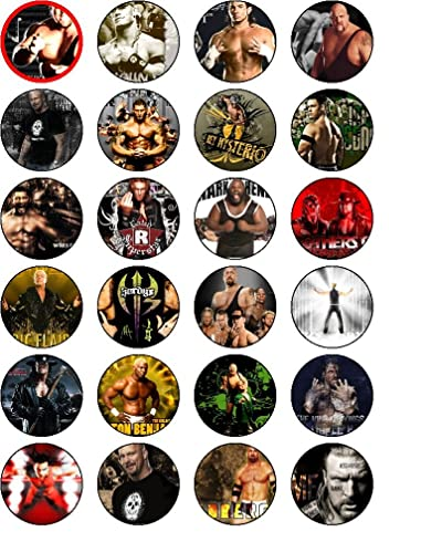 Wwe Superstars 24 Edible Wafer Rice Paper Cake Toppers