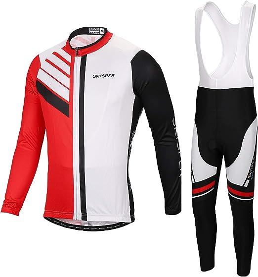 Pantaloni 3D Imbottito Completo Bici per Ciclista Estate Set Abbigliamento Ciclismo Traspirante Maglia Manica Corta SKYSPER Completo Ciclismo Donna