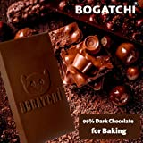 BOGATCHI Baking Chocolate Bar | Vegan Chocolate |Gluten Free |Pure Artisanal 99% Dark Cooking Chocolate Bars for Baking, 480g
