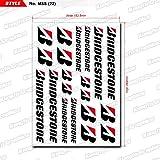 KUNGFU GRAPHICS カンフー グラフィックス BRIDGESTONE(ブリヂストン) サイレンサー レーシングスポンサーロゴ マイクロデカールシート(ホワイト)