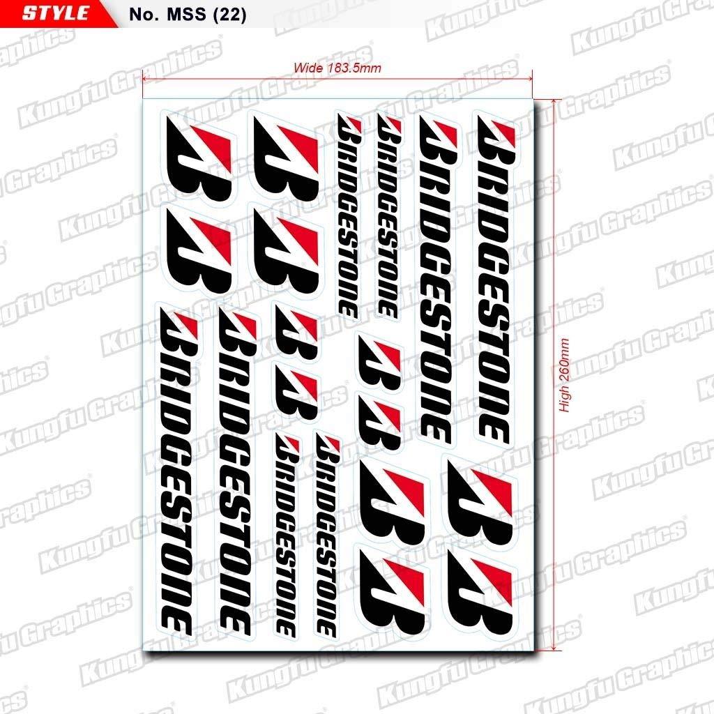 Kungfu Graphics Sponsor Logo Racing Sticker Sheet Universal 7.2 x 10.2 inch