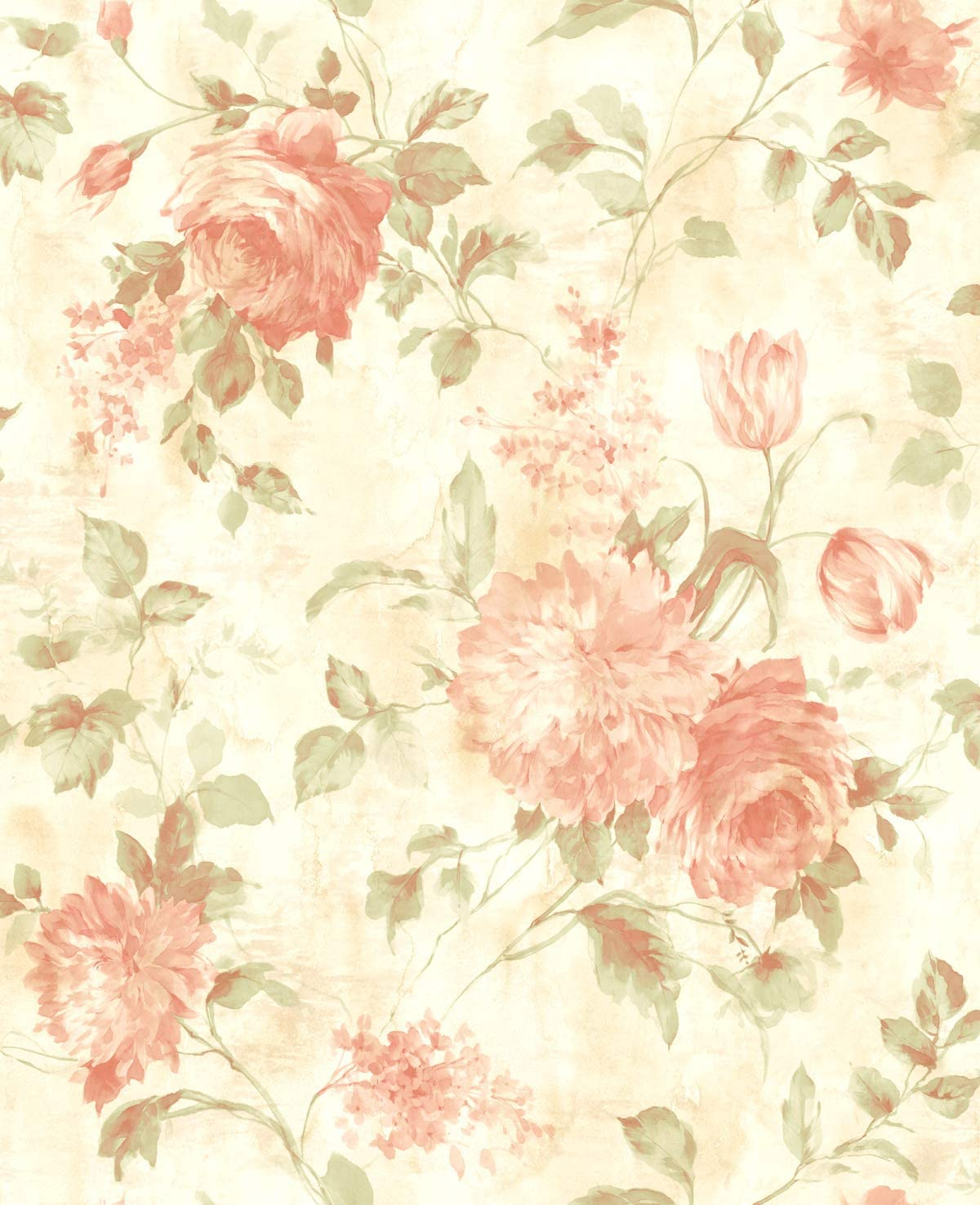 Pink Floral Wallpaper Chinoiserie Wallpaper Rose Wallpaper Floral