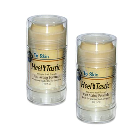 HeelTastic Intensive Heel Therapy Soothing Balm That Repairs Dry, Cracked Heels, by BulbHead 2 Pack