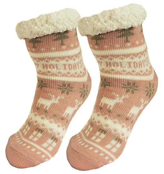 Ferocity Mujer Calcetines térmicos ricos en algodón para resbalón para el invierno Modelo 3 [033]: Amazon.es: Ropa y accesorios