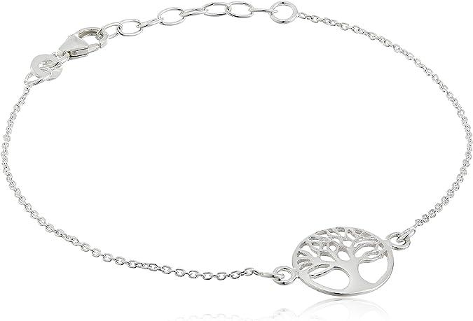 925 Silver Line of Life Jewelry Set Necklace Bracelet