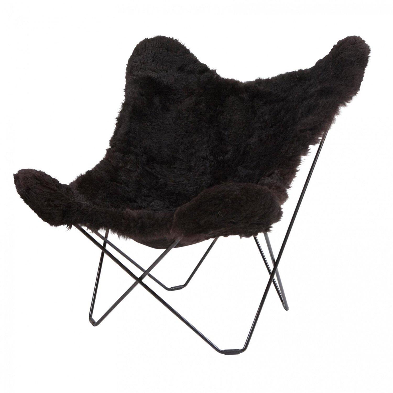 Iceland Mariposa Butterfly Chair - Sillon negro/piel de ...