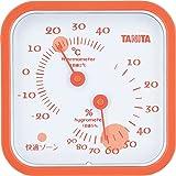 タニタ アナログ温湿度計 置き掛け両用タイプ/マグネット付 オレンジ TT-557-OR