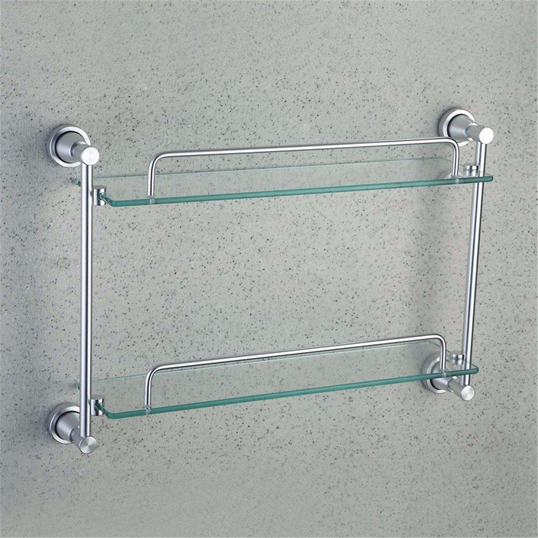 LAONA Contemporary space aluminum wiredrawing bathroom fittings, toilet brush rack, towel bar, toilet paper rack,Rack 2