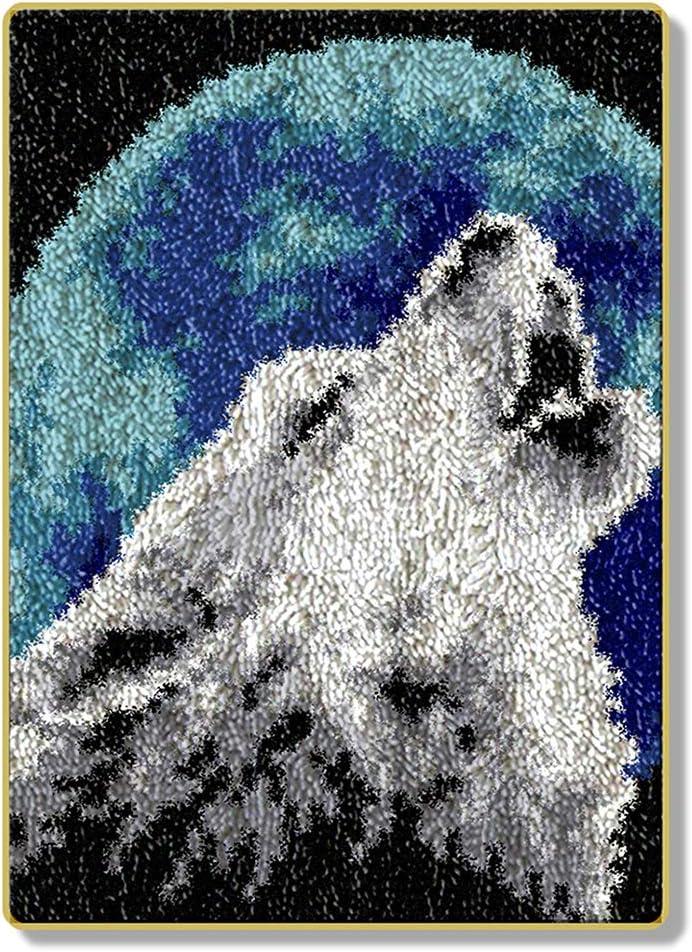 15in 38cm//20 LGWG DIY Teppich Kn/üpfen,Kn/üpfkissen Stickerei Kreuzstich Kissen Teppich Gro/ße Kn/üpfset Erwachsene Zum Selber F/ür Kinder Und Erwachsene Home Dekor//Geschenk,Deer,52