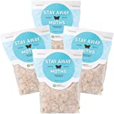 Stay Away Moths Repellent Pest Control Scent Pouches - All Natural, No Mess, and Environmentally Safe - 4 PACK - Not for Sale in NM, SD