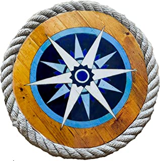 product image for Compass Rose Nautical Lazy Susan